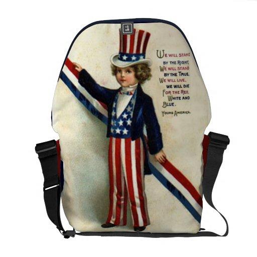 La bolsa de mensajero del carrito del niño del tío bolsa de mensajería