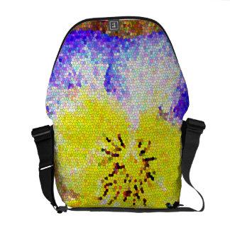 La bolsa de mensajero del carrito del vitral del p bolsa de mensajería
