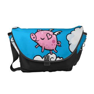 La bolsa de mensajero del cerdo del vuelo bolsa de mensajería