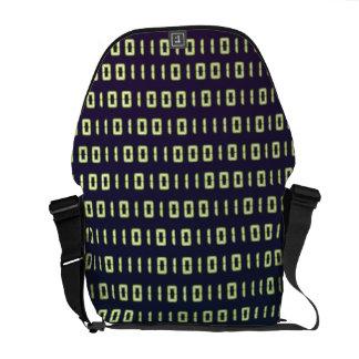 La bolsa de mensajero del código binario bolsa de mensajeria