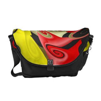 La bolsa de mensajero del color primario bolsas de mensajería