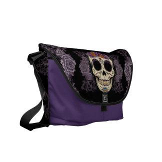La bolsa de mensajero del cráneo del vintage y del bolsa messenger