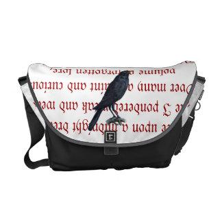 La bolsa de mensajero del cuervo bolsas de mensajeria