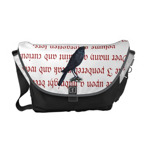 La bolsa de mensajero del cuervo bolsas de mensajería