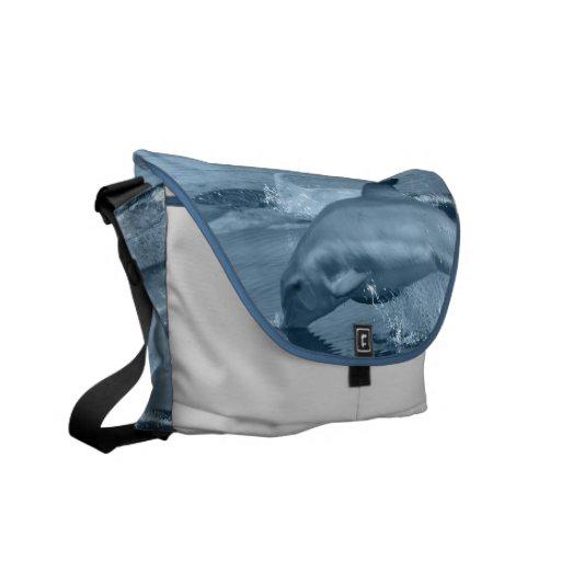 La bolsa de mensajero del delfín del salto bolsas de mensajeria