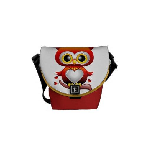La bolsa de mensajero del dibujo animado del coraz bolsas de mensajería