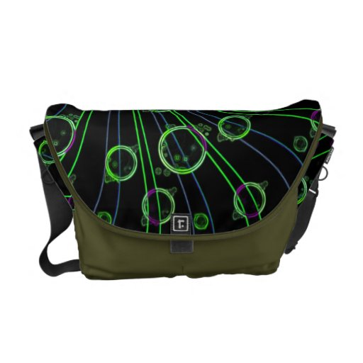 La bolsa de mensajero del diseño de los remolinos  bolsas de mensajeria
