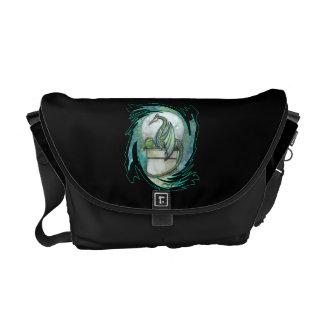 La bolsa de mensajero del dragón verde bolsa de mensajería