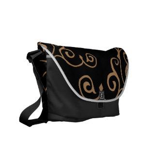 La bolsa de mensajero del ébano del cirro (moreno) bolsas de mensajeria