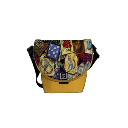 La bolsa de mensajero del edredón loco bolsas messenger