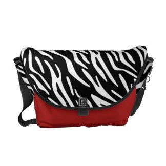 La bolsa de mensajero del estampado de zebra bolsa de mensajeria