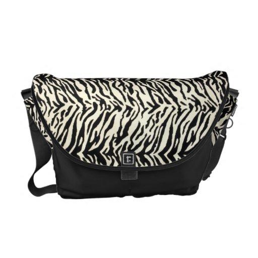 La bolsa de mensajero del estampado de zebra bolsas de mensajería
