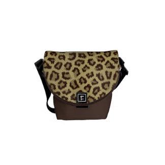 La bolsa de mensajero del estampado leopardo bolsas messenger