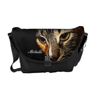 La bolsa de mensajero del fractal del gatito bolsas de mensajería
