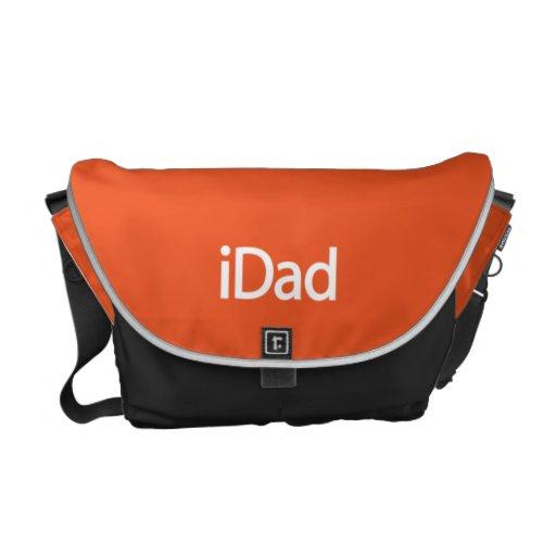 la bolsa de mensajero del iDad en naranja Bolsas De Mensajeria