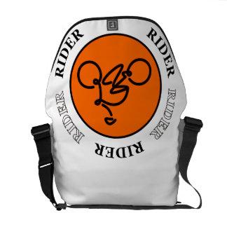 La bolsa de mensajero del JINETE de la bicicleta Bolsas De Mensajeria