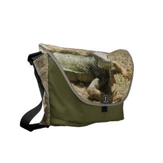 La bolsa de mensajero del lagarto de la iguana bolsa de mensajeria