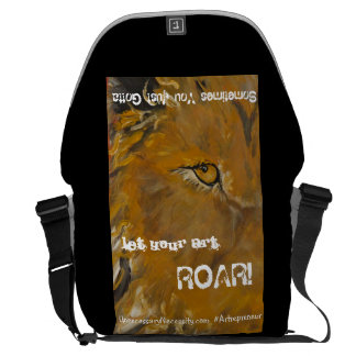 La bolsa de mensajero del león bolsa de mensajería