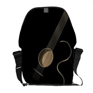 La bolsa de mensajero del logotipo de la guitarra  bolsa messenger