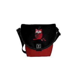 La bolsa de mensajero del logotipo del búho bolsa de mensajería