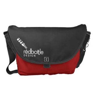 La bolsa de mensajero del Logotipo-ed de RedBottle Bolsas De Mensajería