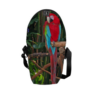 La bolsa de mensajero del Macaw del escarlata Bolsa De Mensajeria