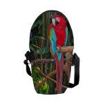 La bolsa de mensajero del Macaw del escarlata Bolsa Messenger