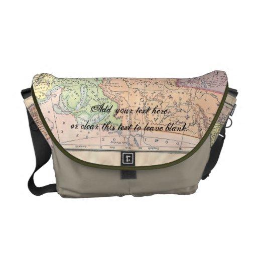 La bolsa de mensajero del mapa del vintage bolsa messenger