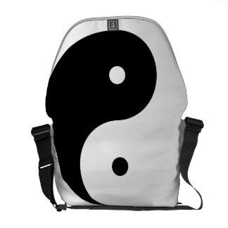 La bolsa de mensajero del medio cero de Yin Yang Bolsas De Mensajeria