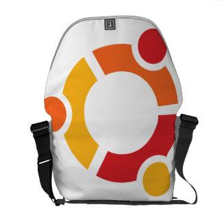 La bolsa de mensajero del medio de Ubuntu Bolsa De Mensajería