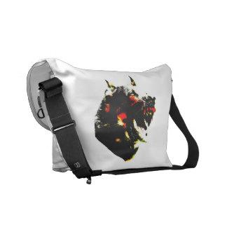 La bolsa de mensajero del medio del perro del zomb bolsas de mensajería