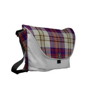La bolsa de mensajero del medio del tartán del cam bolsas messenger