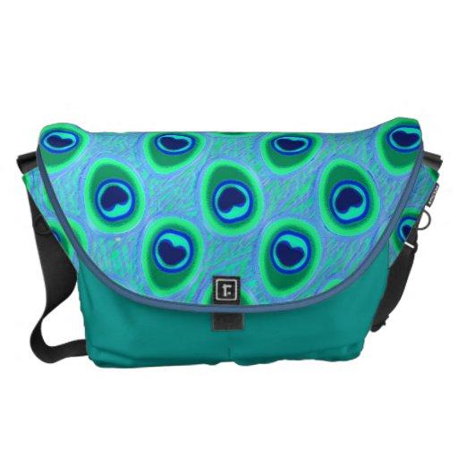 La bolsa de mensajero del modelo del pavo real bolsa messenger
