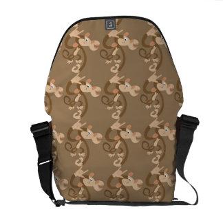 La bolsa de mensajero del mono del ASL te amo Bolsa De Mensajería