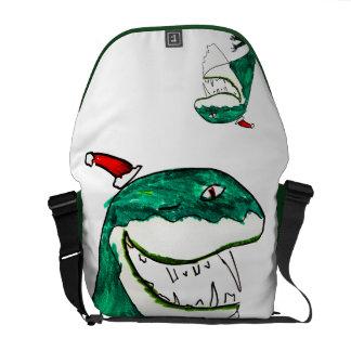 La bolsa de mensajero del navidad T-Rex-Mas Bolsas De Mensajeria