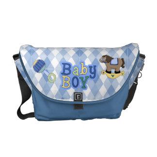 La bolsa de mensajero del pañal del bebé de Argyle Bolsas De Mensajería