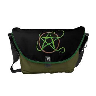 La bolsa de mensajero del pentáculo de la tierra bolsa de mensajeria