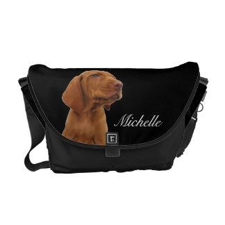 La bolsa de mensajero del perrito de Brown Bolsa De Mensajería