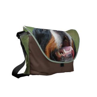 La bolsa de mensajero del perro de Berner Sennenhu Bolsa De Mensajería