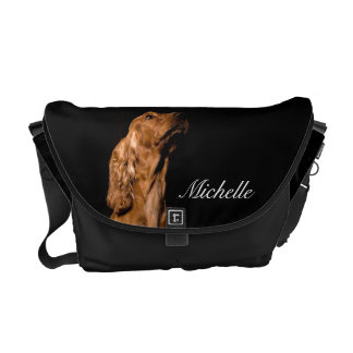 La bolsa de mensajero del perro de cocker spaniel bolsas messenger