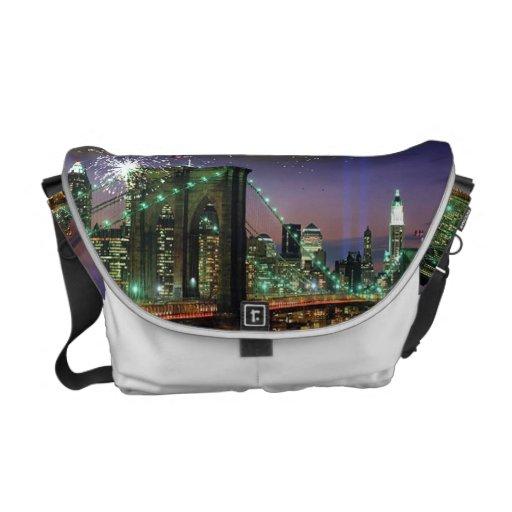 La bolsa de mensajero del puente de NY Brooklyn Bolsas Messenger