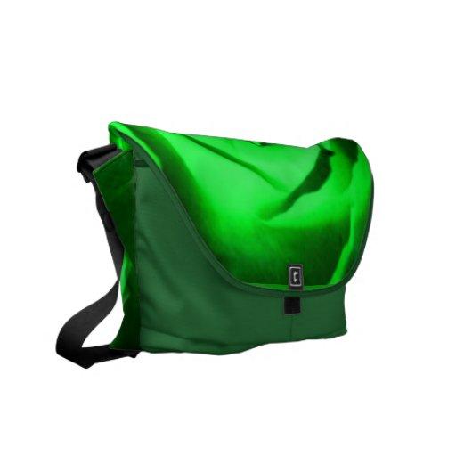 La bolsa de mensajero del rosa verde bolsa messenger
