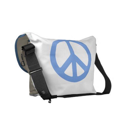 La bolsa de mensajero del signo de la paz bolsa de mensajeria