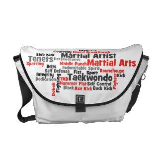 La bolsa de mensajero del Taekwondo de los artes m Bolsas De Mensajería