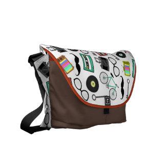La bolsa de mensajero del tema del inconformista bolsas de mensajería