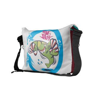 La bolsa de mensajero del tiburón del topo bolsas de mensajería