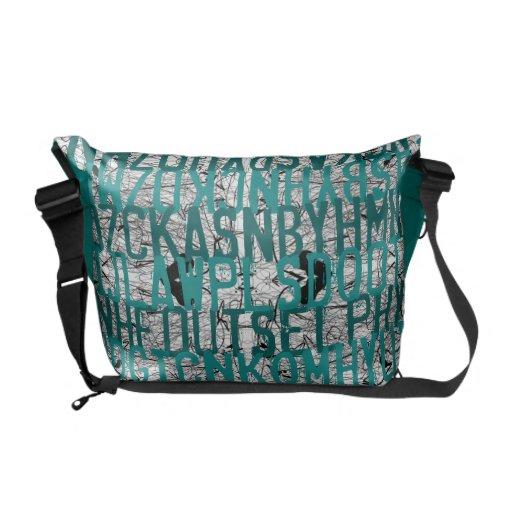 La bolsa de mensajero del trullo del rasguño de la bolsas de mensajería