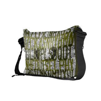 La bolsa de mensajero del verde del rasguño de la  bolsa messenger