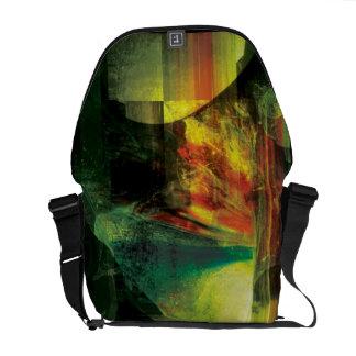 La bolsa de mensajero del vidrio y de la bici de l bolsa de mensajeria