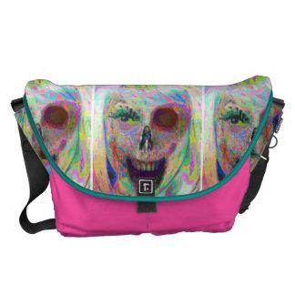 La bolsa de mensajero del zombi de la tiza del ali bolsas de mensajeria